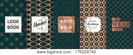 The labels contain the following text. Look Book Men Classic, Luxury Menswear Collection, Men's Wear Classy Look, Menswear Fashion Magazine, Elegant Wear Collection