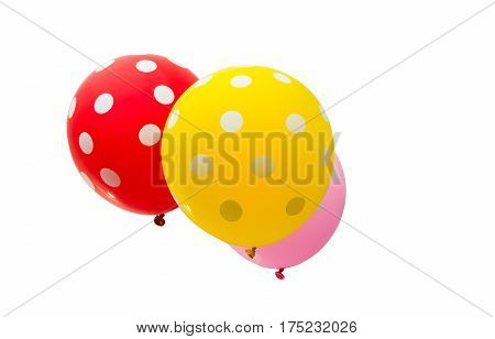 colorful balloons De Holiday isolated on white background
