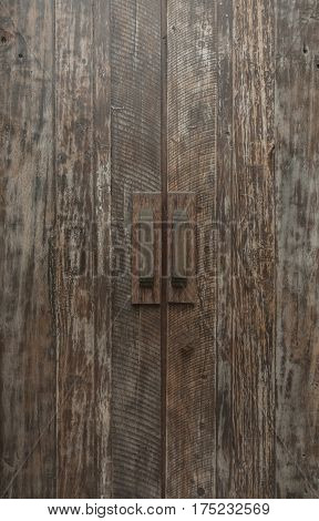Antique Wooden  Closed Door