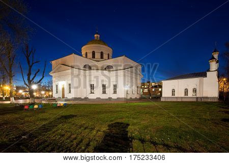 Transfiguration Cathedral in Bila Tserkva. Spring. orthodox.