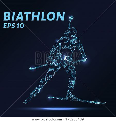 The Biathlon Consists Of Points, Lines And Triangles. The Polygon Shape In The Form Of A Silhouette