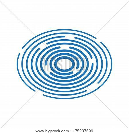 Vector illustration. Blue ripples on the water.