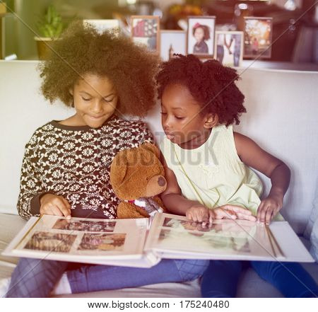 African Descent Family House Home Resting Living concept
