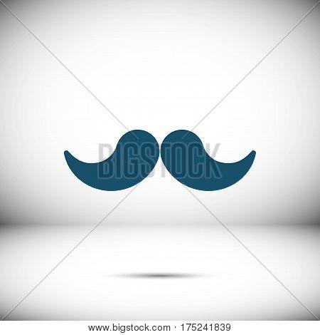 mustache icon stock vector illustration flat design