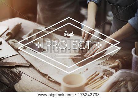 Best Project Rhombus Label Concept