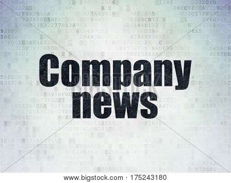 News concept: Painted black word Company News on Digital Data Paper background