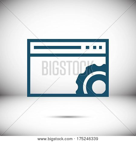 your browser settings icon stock vector illustration flat design