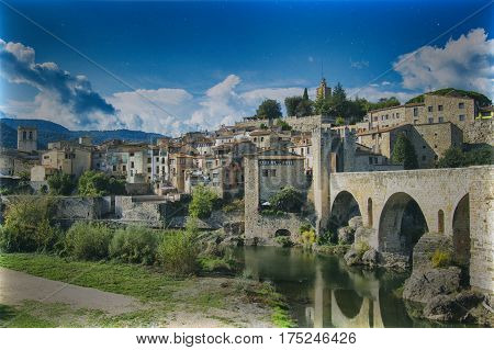 The village of Besalu in Girona, Catalonia