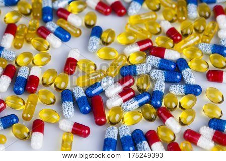 Healthy background, Pills, Tablets, Capsule background