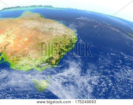 East Coast Of Australia On Planet Earth