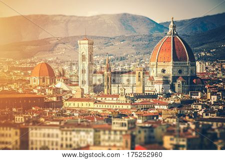 Italy Florence Architecture. Florence Cityscape. Toscany Landscape.