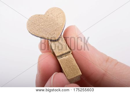 Heart Shape Icon  Attached To Clothespin