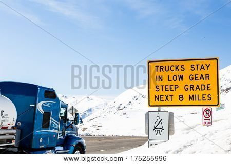 Loveland Pass Colorado USA-March 15 2015. Typical weekend at Loveland pass on late Winter day.