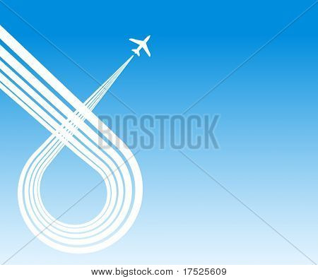 plane blue background