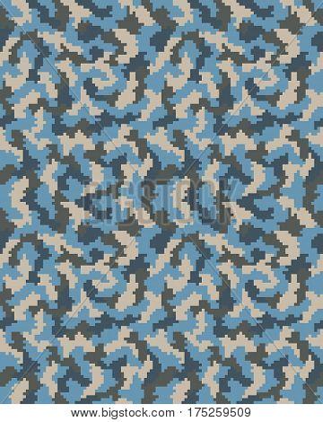 Illustration of seamless pattern of digital camouflage
