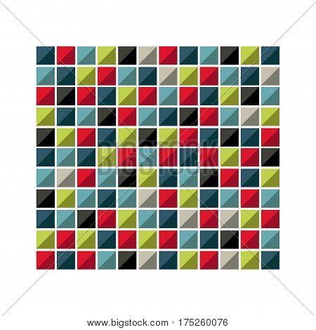 colores square background icon, vector illustraction design image
