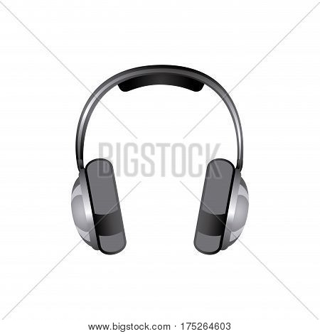 gray headphones icon stock, vector illustraction design