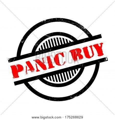 Panic Buy rubber stamp. Grunge design with dust scratches. Effects can be easily removed for a clean, crisp look. Color is easily changed.