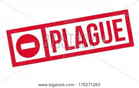 Plague rubber stamp. Grunge design with dust scratches. Effects can be easily removed for a clean, crisp look. Color is easily changed.