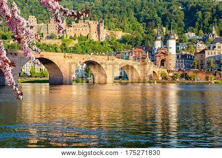 Bridge in Heidelberg at spring, Germany