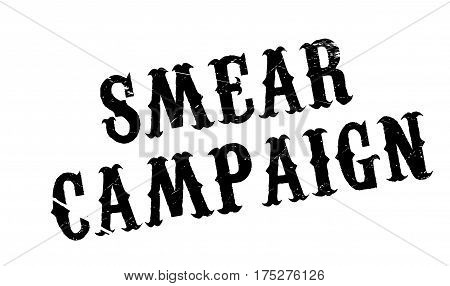 Smear Campaign rubber stamp. Grunge design with dust scratches. Effects can be easily removed for a clean, crisp look. Color is easily changed.