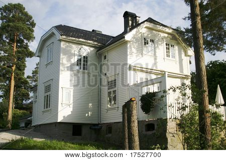 An old house in Oslo, Norway, in the Norstrand area