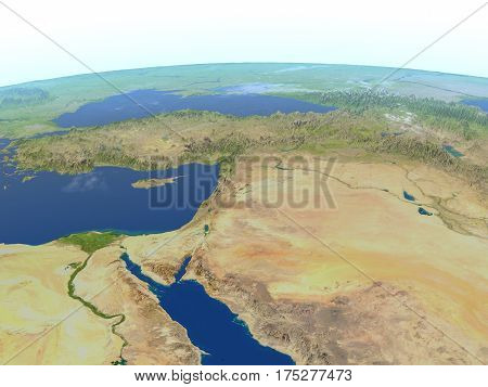 Middle East On Planet Earth