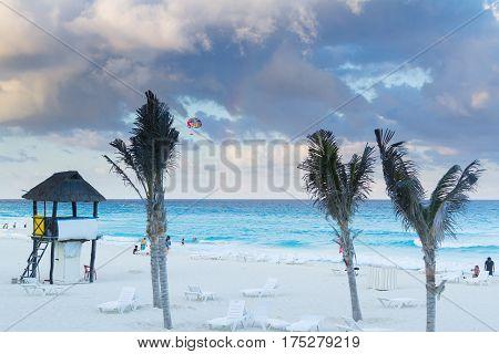 Beach Of The Caribbean Sea