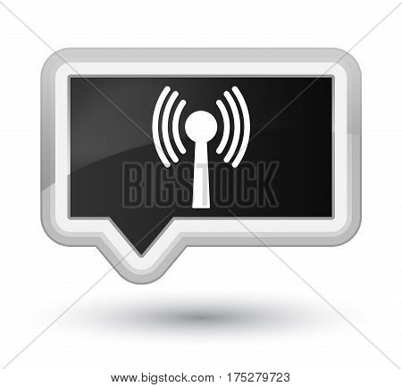 Wlan Network Icon Prime Black Banner Button