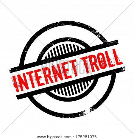 Internet Troll rubber stamp. Grunge design with dust scratches. Effects can be easily removed for a clean, crisp look. Color is easily changed.