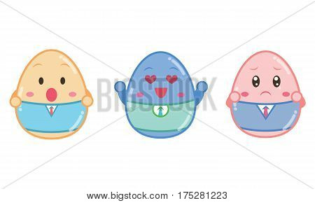 Vector art of easter egg style collection stock