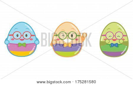 Illustration of geek easter egg style collection stock