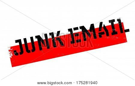 Junk Email rubber stamp. Grunge design with dust scratches. Effects can be easily removed for a clean, crisp look. Color is easily changed.