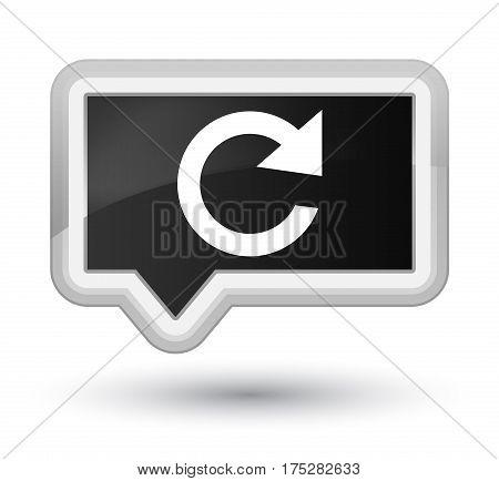 Reply Rotate Icon Prime Black Banner Button