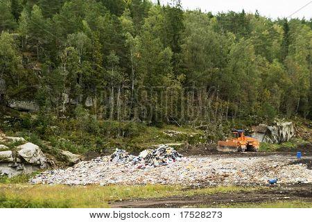 The garbage landfill near Oslo, Norway