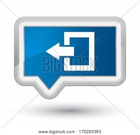 Logout Icon Prime Blue Banner Button