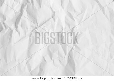 The white texture image is crumpled paper to show texture detail on paper. for design mapping material on 3D object Abstract art background.