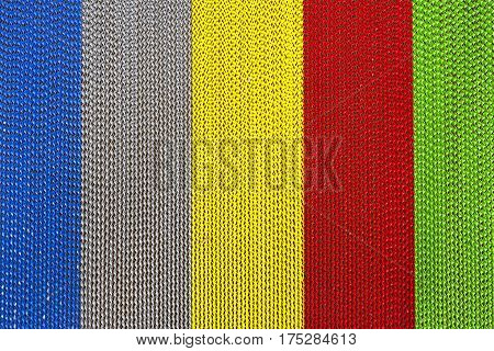 The texture of multi color twist metal strip background
