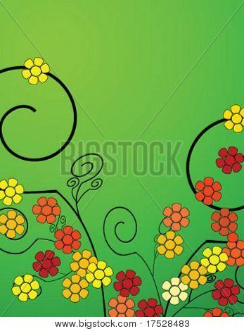 Une arrière-plan printemps fleur abstract vector illustration.