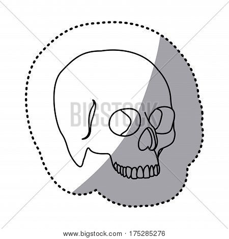figure skeleton of the human skull icon, vector ilustraction design