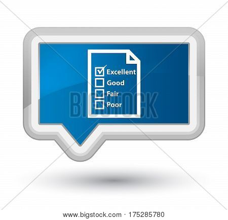 Questionnaire Icon Prime Blue Banner Button