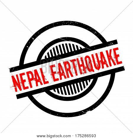 Nepal Earthquake rubber stamp. Grunge design with dust scratches. Effects can be easily removed for a clean, crisp look. Color is easily changed.