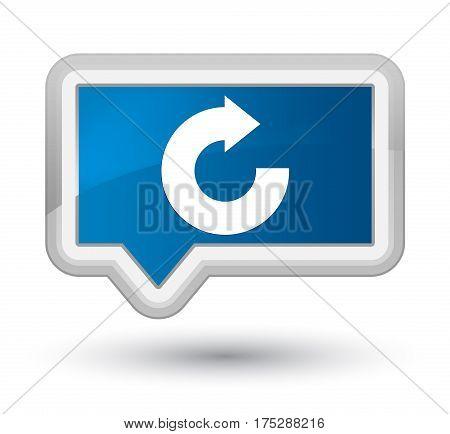 Reply Arrow Icon Prime Blue Banner Button
