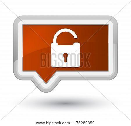 Unlock Icon Prime Brown Banner Button