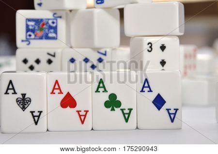 Mahjong Set With Four Aces