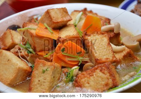Vegetarian Tofu And Mixed Vegetable