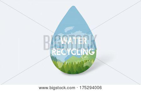 Save Water Natural Nurture Environmentally Development