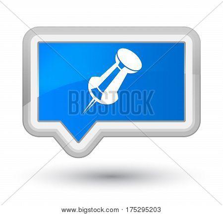 Push Pin Icon Prime Cyan Blue Banner Button
