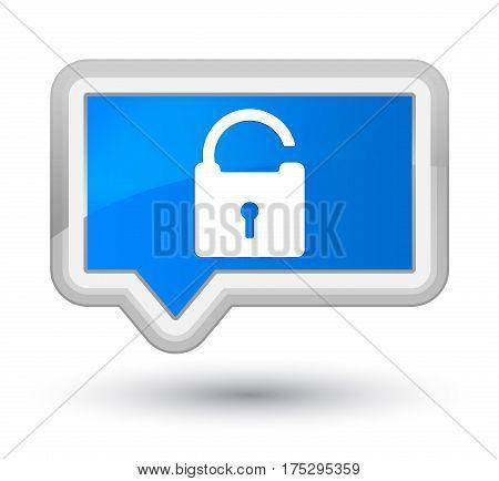Unlock Icon Prime Cyan Blue Banner Button