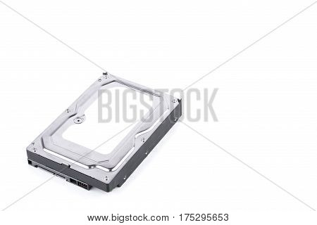 harddisk drive is the data storage for the digital data computer on white background  harddisk technology isolated